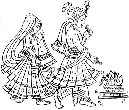 7 times around the fire; a bond for 7 lifetimes. My favorite symbolic ritual from the big fat Indian wedding.
