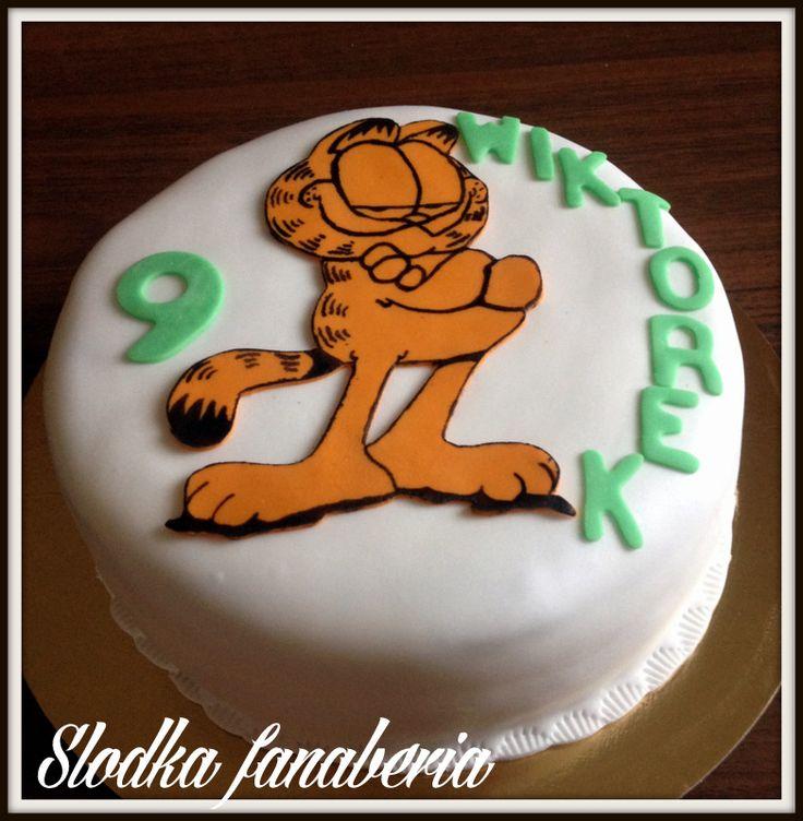 Tort z kotem Garfieldem