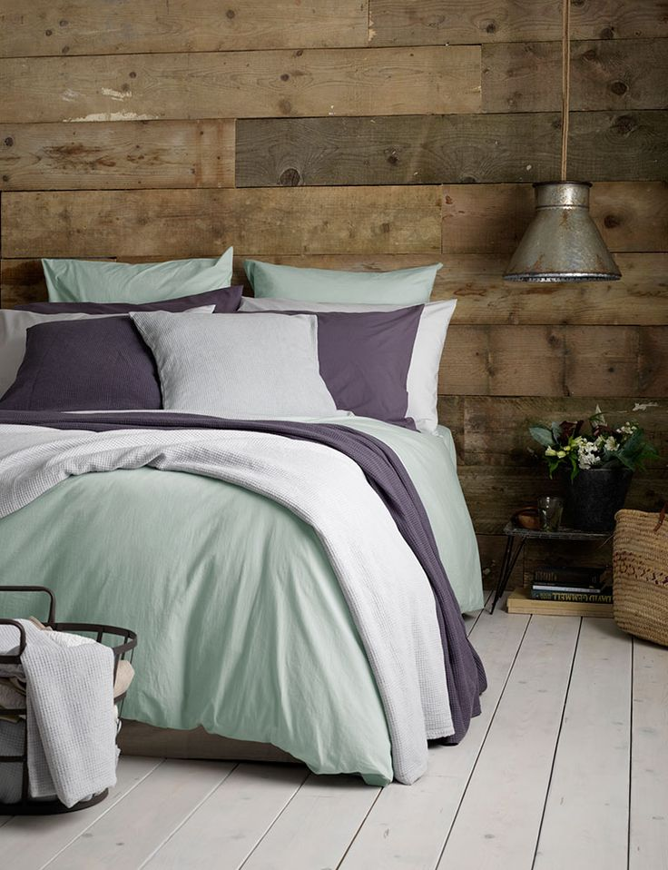 Mix and match light cotton bedding. The perfect slumber for Sundays. Light cotton, rustic charm and plenty of cushions and throws.