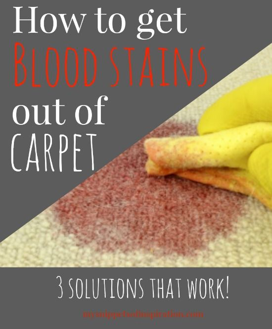 blood stain for the home carpets stains