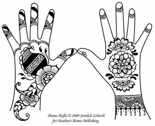 mahndi designs simpla Colouring Pages