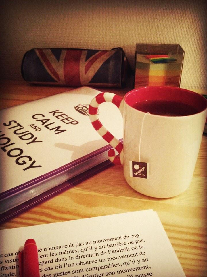 Joanna's festive teapigs cuppa is helping her power through her long study sessions :)
