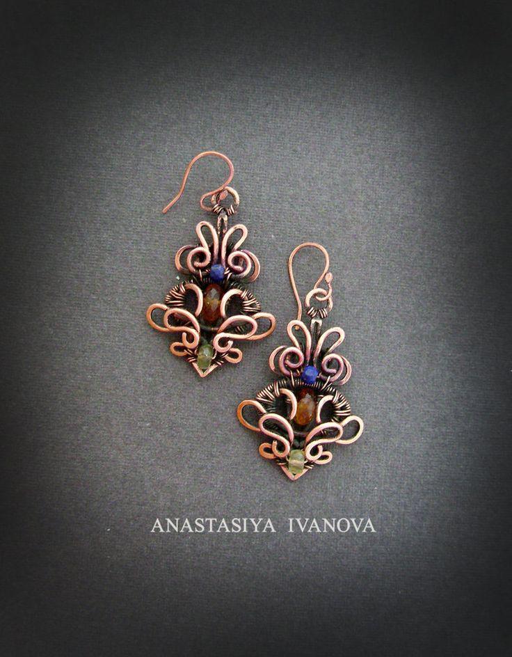 earrings with topaz by nastya-iv83.deviantart.com on @DeviantArt