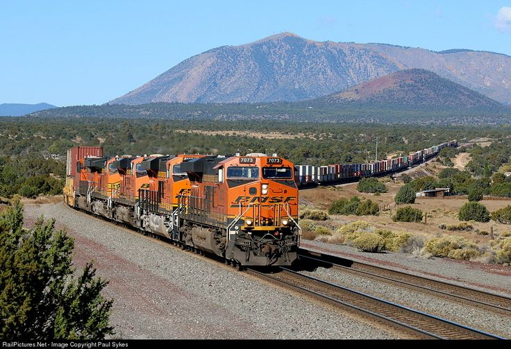 RailPictures.Net Photo: BNSF 7073 BNSF Railway GE ES44C4 at Flagstaff, California by Paul Sykes
