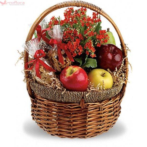 Autumn - Cos gourmet cu fructe, alune si plante