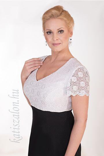 c2df638669 480- klasszikus fekete-fehér rövid alkalmi ruha | Ruci | Tops, Lace ...