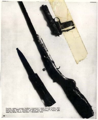 Warsaw, Poland, Weapons used in the Warsaw Ghetto Uprising found in the ruins of the ghetto.                                                ...
