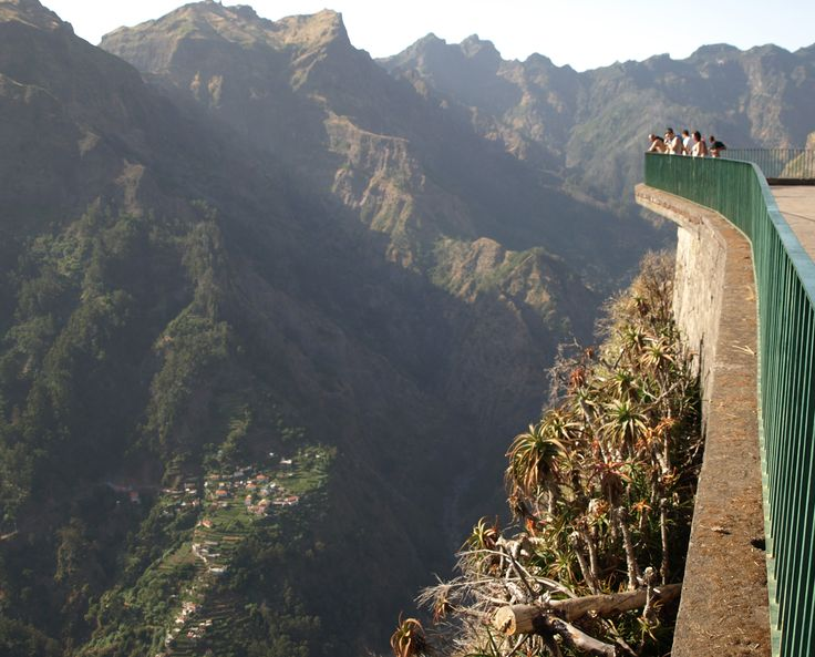 Vertiginous views on the top of Madeira Island mountains. Eira do Serrado, #madeira #portugal