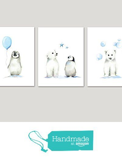 Penguin Nursery, Polar Bear Nursery, Baby Boy, Wall Decor, Arctic Animals, Baby Animal Print, Set of 3, Childrens Art, Kids Art print, Baby Boy Nursery from Studio Q Gallery http://www.amazon.com/dp/B017TLCDIE/ref=hnd_sw_r_pi_dp_aYhYwb0Y4C6F7 #handmadeatamazon