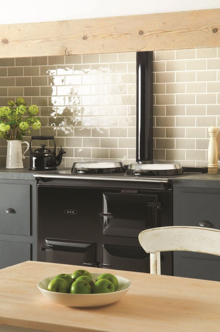Dunwich gloss half tiles are a cute take on regular sized for Perfect tiles for kitchen