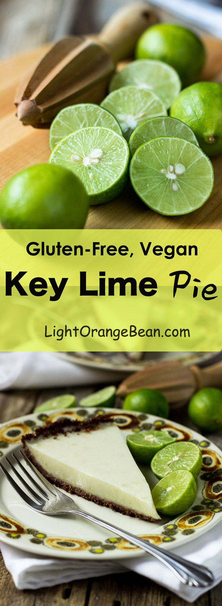 This authentic real key lime pie is a combination of freshness, sweetness, unique tartness, and silky smooth texture. It's also a healthy choice and gluten-free, vegan, no-sugar-added, and low calories.