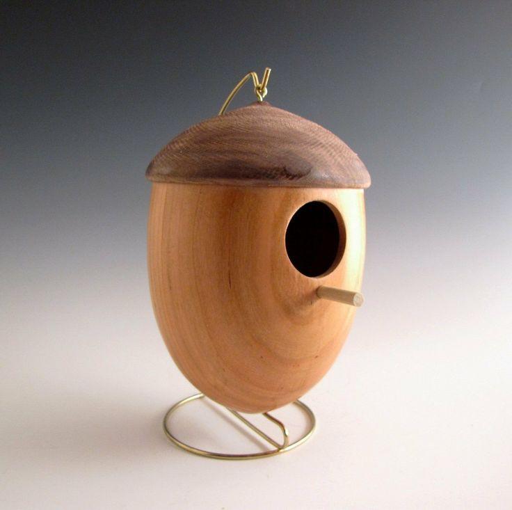 Useful Turning Decorative Bird Houses On Wood Lathe