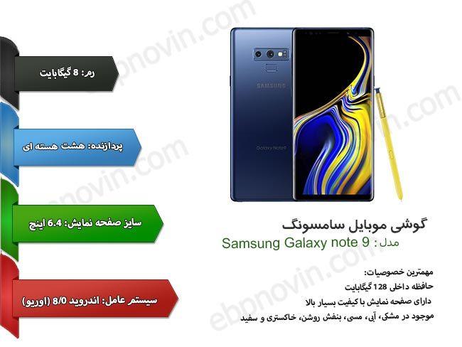 قیمت خرید و مشخصات فنی گوشی سامسونگ Samsung Galaxy Note 9 128gb ایده برتر پارسیان Samsung Galaxy Note Galaxy Note Galaxy Note 9