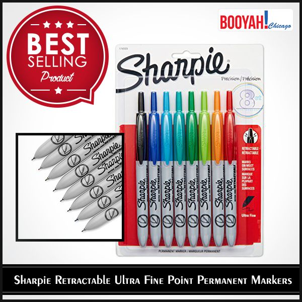 #GenuineImportedProductsDirectFromUSA Only at http://Booyahchicago.com  Sharpie Retractable Ultra Fine Point Permanent Markers. Buy Now : https://tinyurl.com/y8wn8fmr #OfficeSupplies #SchoolSupplies