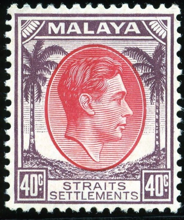 King George VI Malaya - Straits Settlement - 1937 - 41