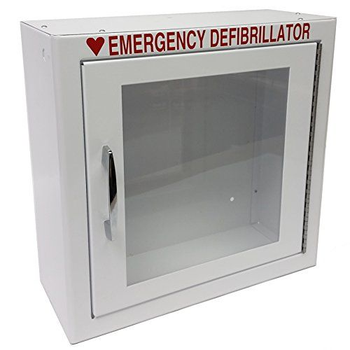 The First Voice TS145SM is a surface-mounted cabinet for holding and storing an automated external defibrillator (AED). This cabinet has a steel body for strength, a white enamel finish that resists corrosion, and a clear acrylic window and red lettering to facilitate visual identification of...