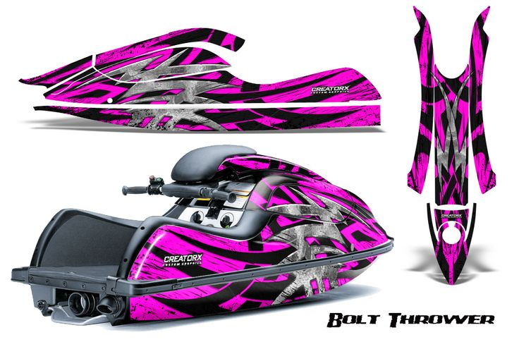 Kawasaki JetSki SX R800 CreatorX Graphics Kit Bolt Thrower Pink 400x250