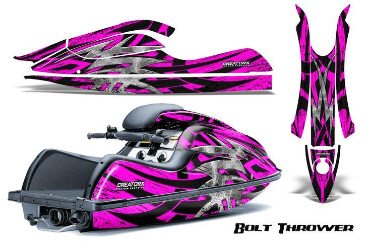 Kawasaki JetSki SX R800 CreatorX Graphics Kit Bolt Thrower Pink 400x250