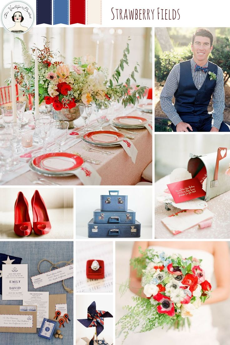 Strawberry Fields – Summer Wedding Inspiration in Red, White and Blue