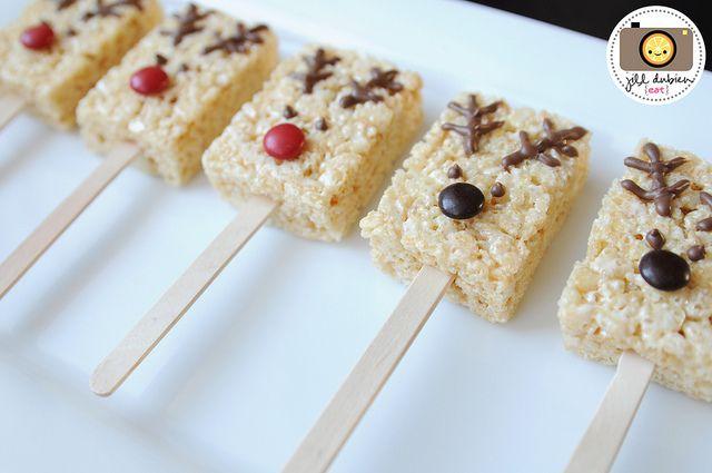 reindeer rice krispie treats cute !