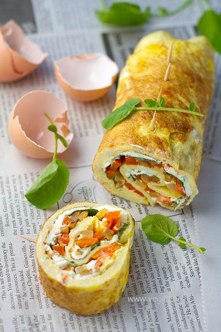 Omelette Rollups:: I love these things! I used to make them for lunch all the time!