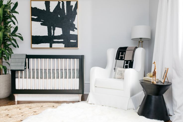 Project Nursery - Black and White and Gold Nursery