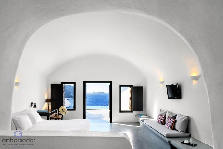 This is the view you get from the Infinity Cave Suite at Ambassador Aegean Luxury Hotel & Suites. Breathtaking!