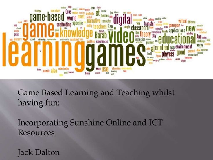Game Based Learning and Teaching whilst having fun. Incorporating Sunshine Online and ICT Resources