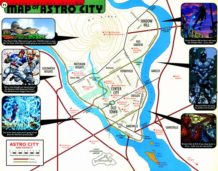 Not only was I influenced by Astro City, I also found the old DC Heroes RPG Atlas as an excellent source of information, the way it described the various regions and neighborhoods of it's fictional cities.
