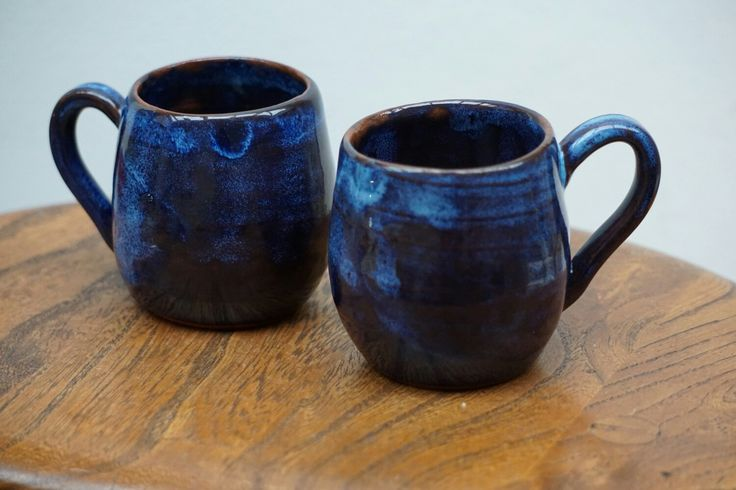 Terracotta earthenware clay with cobalt blue and rockpool gloss glazes.