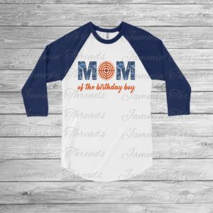Nerf Mom shirt- match your Birthday Boy or girl on their special day! Nerf birthday party shirt