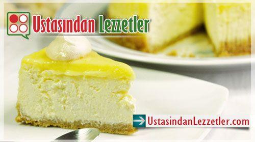 Limonlu Cheesecake Tarifi ve yapılışı... http://www.ustasindanlezzetler.com/limonlu-cheesecake-tarifi.html