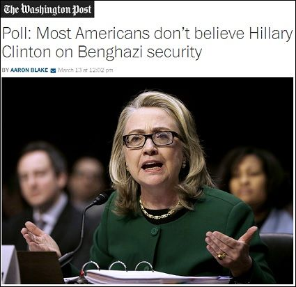 A fascinating new Bloomberg poll out today shows a majority of Americans do not believe Hillary Clinton when it comes to the Benghazi terrorist attack scandal.