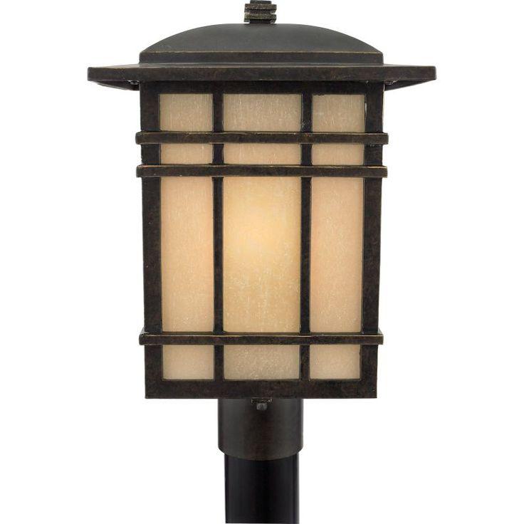 55 best exterior post lamps images on pinterest lamps light quoizel hc9011 hillcrest 1 light 17 tall post lantern with opaque linen glass imperial bronze aloadofball Gallery