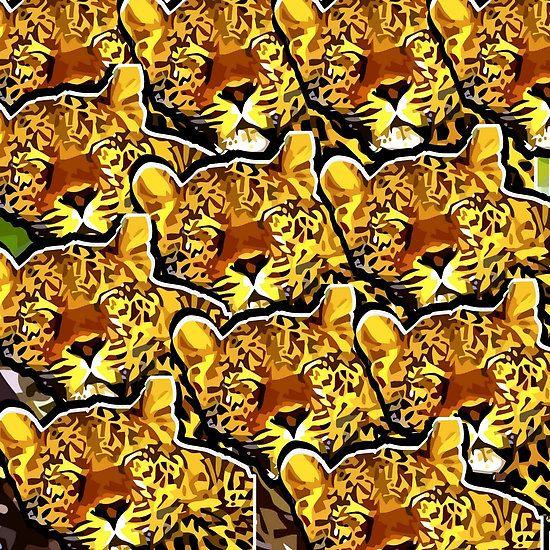 leopard graphic vector art