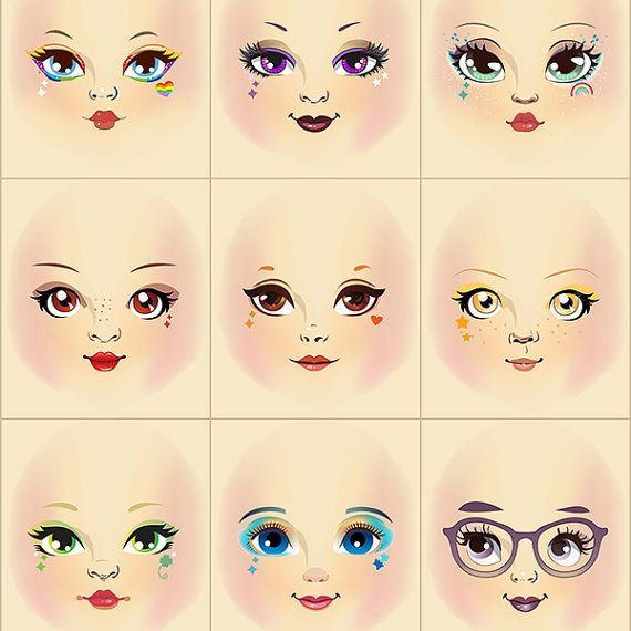Doll Face Stamp Tutorial For Beginners #dollfacepainting