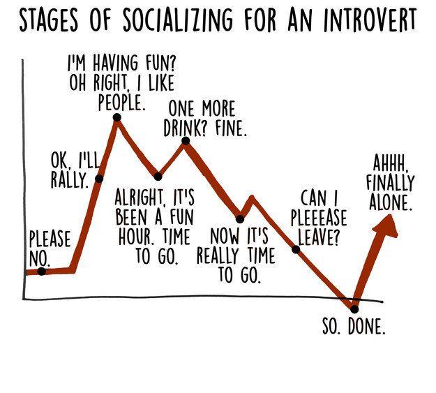 Ces graphiques résument parfaitement (et avec humour) les introvertis