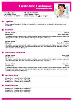 Free CV Builder Free Resume Builder cv templates