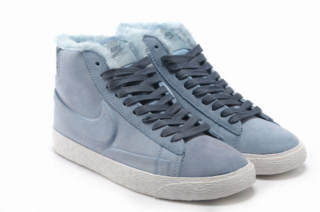 Nike Blazer Haute Caterpillar Vintage Bleu Clair