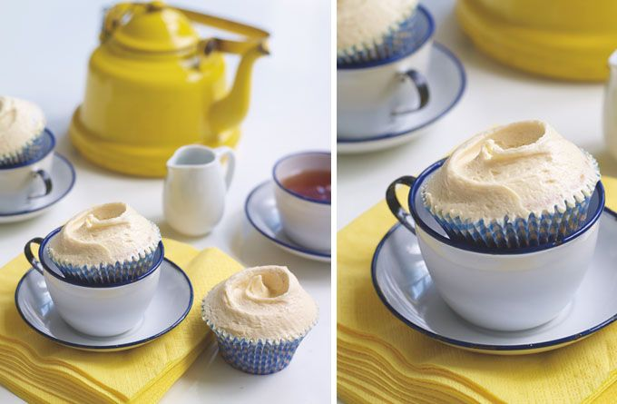 Laura Ashley Blog: HUMMINGBIRD BAKERY RECIPE: Earl Grey Tea Cupcakes