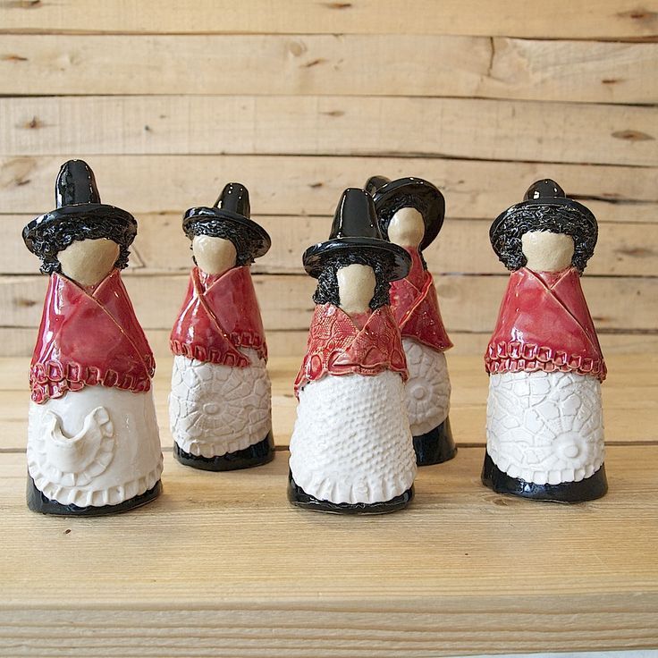 I am absolutely in love with these little Welsh ladies from Seld in Aberaeron. Each one unique and very beautiful!