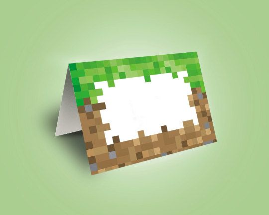 Minecraft Food Tent Cards, Food Labels, Minecraft Party, Instant Download, Printable