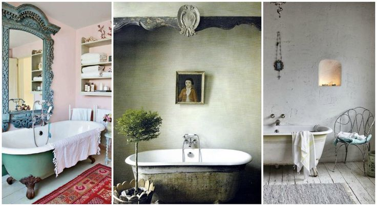Bathtub: 9 ιδέες για το μπάνιο σας Μία εναλλακτική λύση για ξεχωριστή διακόσμηση.