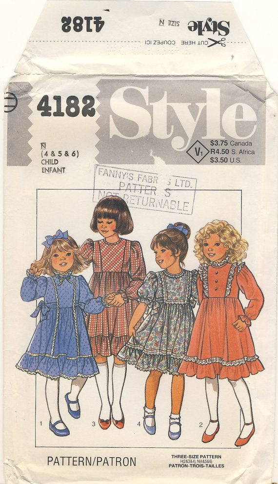 Style 4182 Childs Dress Multi sizes Girls 4  5 by susanbeingsnippy