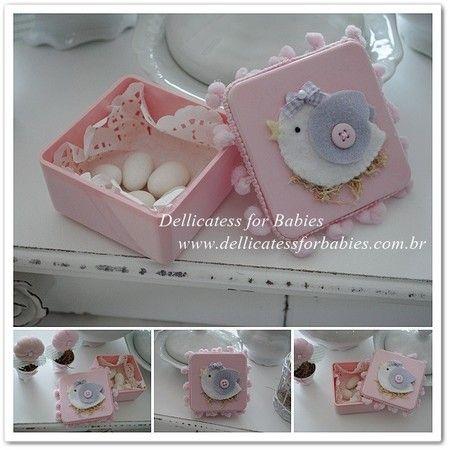 Lembrancinhas passarinho - Dellicatess for Babies