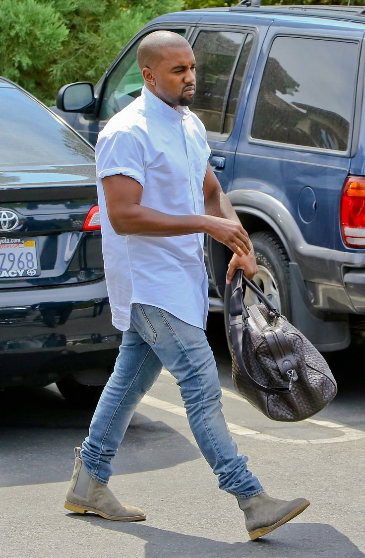 Kanye boots denim tumblr