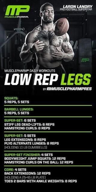 Low Rep Leg Workout from Laron Landry