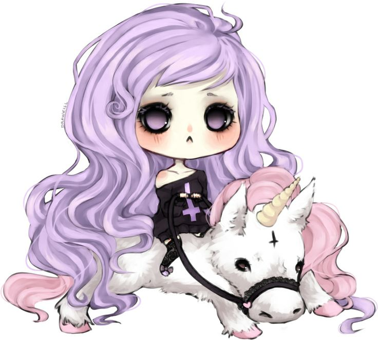 Pastel goth and unicorn