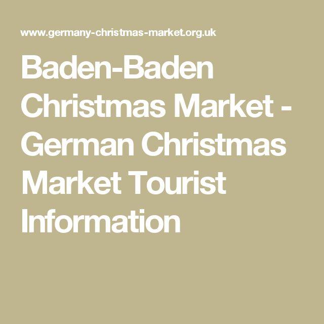 Baden-Baden Christmas Market - German Christmas Market Tourist Information