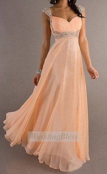 Bridesmaid Dress Light Peach Bridesmaid Dress / by WeddingBless, $118.00